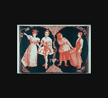 Performing Arts Posters Phil Sheridans New City Sports Company woman in lowcut dress pointing two male comedians in womens clothing and one man in regular clothing 0952 Unisex T-Shirt