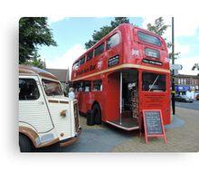 British Bar Bus Canvas Print