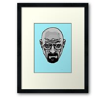 Walter White - Heisenberg - Breaking Bad- Black and White Framed Print