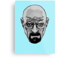 Walter White - Heisenberg - Breaking Bad- Black and White Metal Print