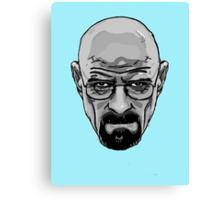 Walter White - Heisenberg - Breaking Bad- Black and White Canvas Print