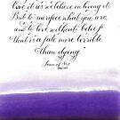 Joan of Arc handwritten inspirational quote by Melissa Goza