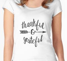 Thankful and Grateful Women's Fitted Scoop T-Shirt