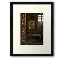 At the Moravian Tile Works Framed Print
