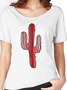 Red Cactus Women's Relaxed Fit T-Shirt