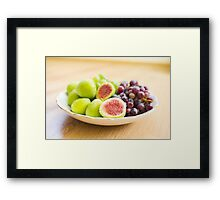 Fresh figs and grape Framed Print