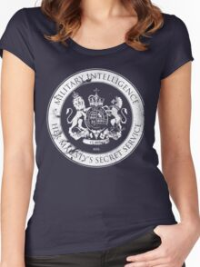 On her Majesty's secret service logo Women's Fitted Scoop T-Shirt