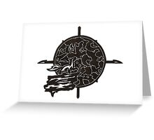 Shattered Moon Compass Greeting Card