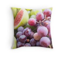 Fresh figs and grape Throw Pillow