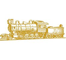 Vintage Steam Train Photographic Print