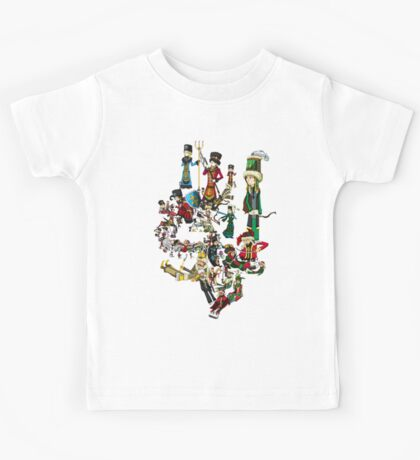 Renaissace Eastern Europe National Personifications Map Kids Tee