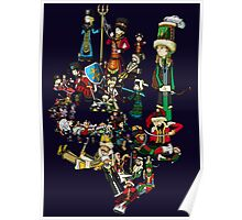Renaissace Eastern Europe National Personifications Map Poster