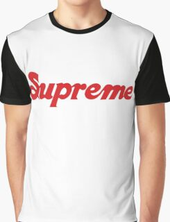 red supreme Graphic T-Shirt