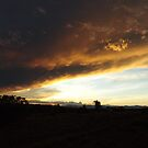 Sunset, Clouds, Mountains, Santa Fe, New Mexico  by lenspiro