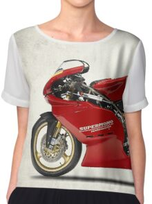 The 1995 Supermono Motorcycle Chiffon Top