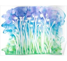 Flowers & Weeds ~ Watercolor Painting Poster