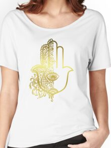 Golden Hamsa Hand Women's Relaxed Fit T-Shirt