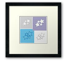 Collection of star backgrounds Framed Print