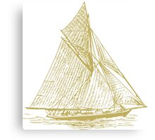 Vintage Sailing Ship Canvas Print