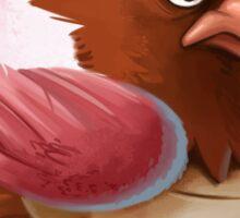 Grumpy Turnip Birb Sticker