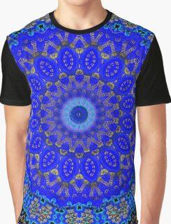 Cobalt And Gold Mandala Graphic T-Shirt