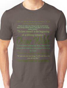 Oscar Wilde Quotes Unisex T-Shirt