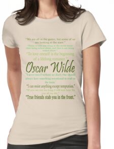 Oscar Wilde Quotes Womens Fitted T-Shirt