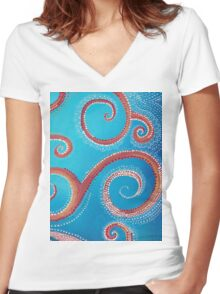 Gaia Women's Fitted V-Neck T-Shirt