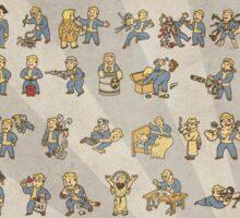Vault Boy Fallout Perks Poster Sticker