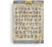 Vault Boy Fallout Perks Poster Canvas Print