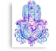 Pastel Colors Hamsa Hand Canvas Print