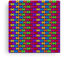 Pixel Sweet Candy Wrapper Bows Canvas Print