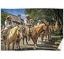 Ready for the Cattle Drive, Fort Worth Stockyards, Texas, USA Poster