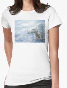 "Polar Bear ""Arctic Sovereign"" Acrylic Painting Womens Fitted T-Shirt"