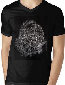DOODDLE IN WHITE INK Mens V-Neck T-Shirt