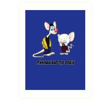 Pinkman and the brain - Breaking Bad/ Pinky and the brain Art Print