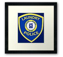 Laundry Police  Framed Print