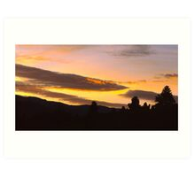 Sierra Valley Sunset Art Print