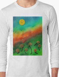 Emerging Snail Flowers Long Sleeve T-Shirt
