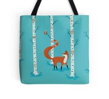Fox - Owl - Birch Trees  Tote Bag