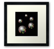 Silver pearls  Framed Print