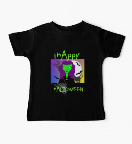 Happy Halloween Spooky Wicked Witch Baby Tee