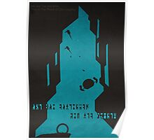 The Ancient Ones - (Stargate Atlantis Negative-Space Print) Poster