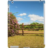 wooden fence iPad Case/Skin