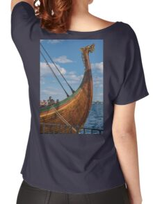 The Beautifully Carved Prow of the Draken Harald Harfragre Women's Relaxed Fit T-Shirt