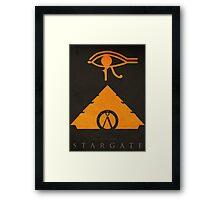 The Sun 'God' - (Stargate 1994 Negative-Space Print) Framed Print