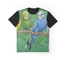 "Singing Budgies ""Budgie Band"" Acrylic Painting Graphic T-Shirt"