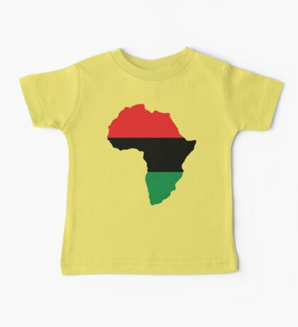 Red, Black & Green Africa Flag Baby Tee