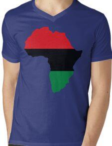 Red, Black & Green Africa Flag Mens V-Neck T-Shirt