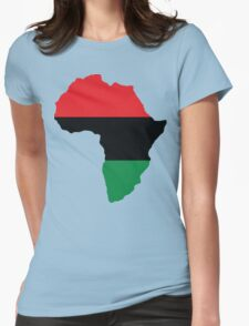 Red, Black & Green Africa Flag Womens Fitted T-Shirt
